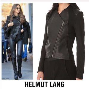 Black Lamb Leather Side Zip Moto Jacket